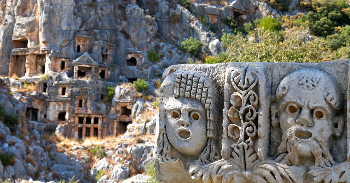 Dünyaca Ünlü Myra Antik Kenti'ni Görün