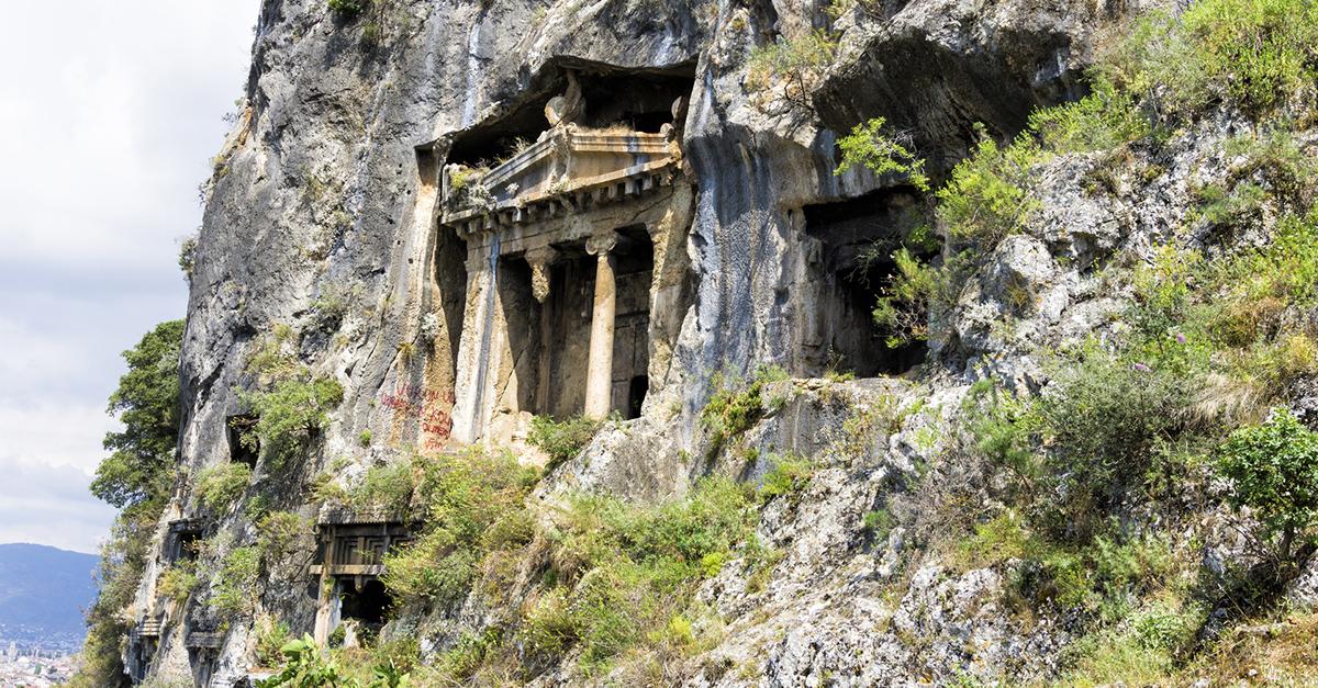 Efsanevi Fethiye Kaya Mezarlarını Görün