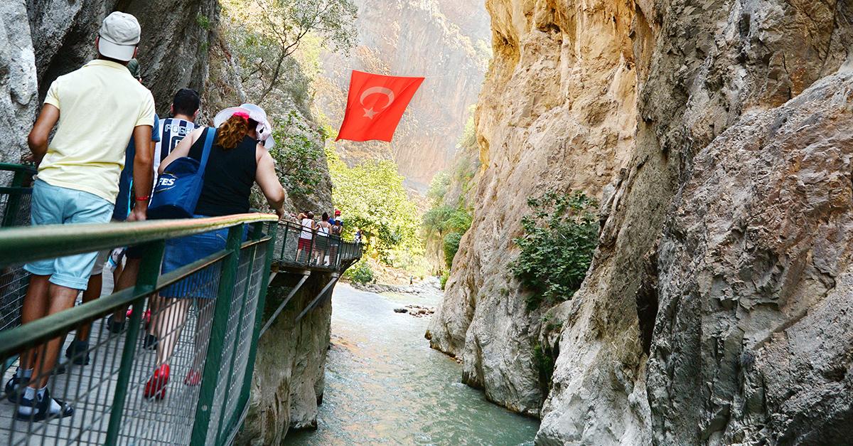 Fethiye Saklıkent Kanyonunda Yürüyün