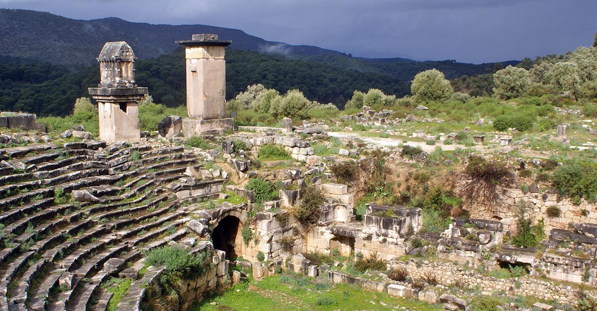 Görkemli Xanthos Antik Kentini Gezin