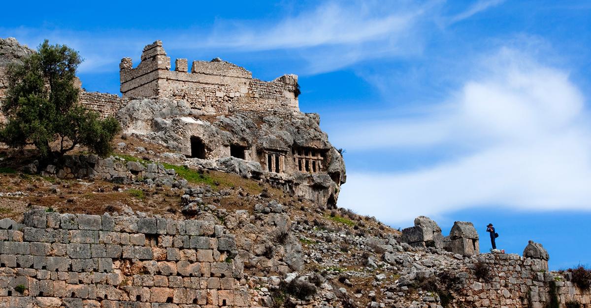 Saklıkent Geçidinde ve Antik Tlos Kentinde Yürüyün