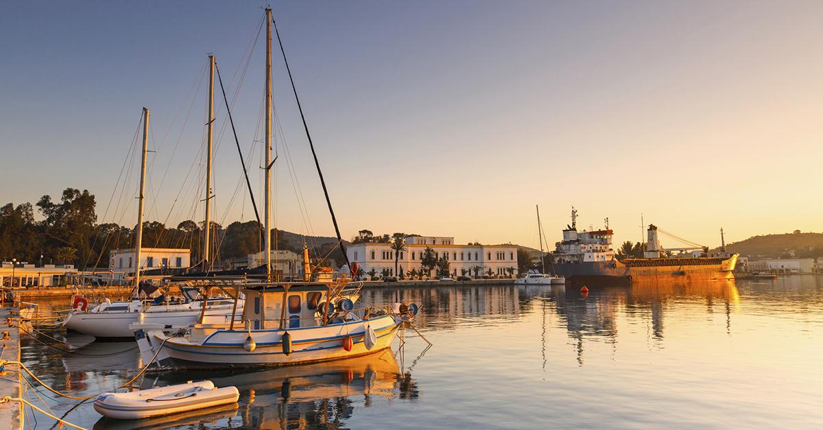 Yunan Leros Adası'nı Gezin